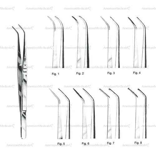 "london college dental tweezers without grip - 15 cm (6"")"