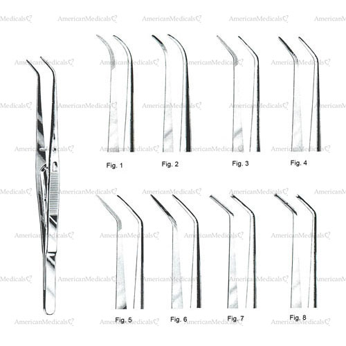 "london college dental tweezers with lock - 15 cm (6"")"