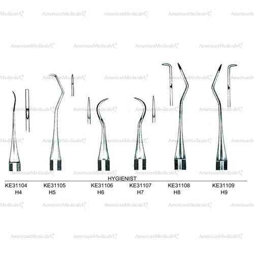 hygienist single ended scalers