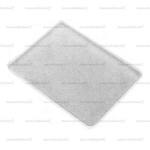 glass mixing slabs - 10 x 10 cm