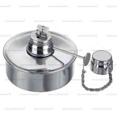 stainless steel spirit lamp with chain - 75 ml