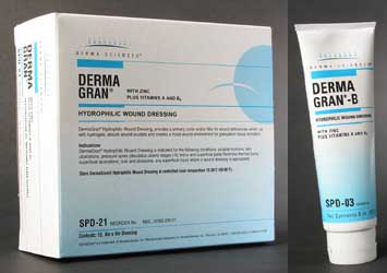 derma sciences dermagran® b hydrophilic wound dressings