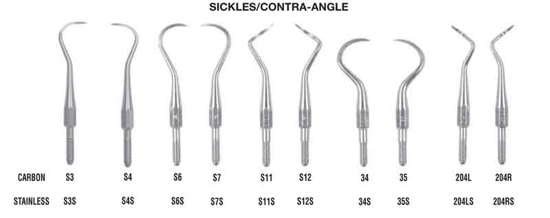 g. hartzell & son cs sickle scalers/ contra-angle
