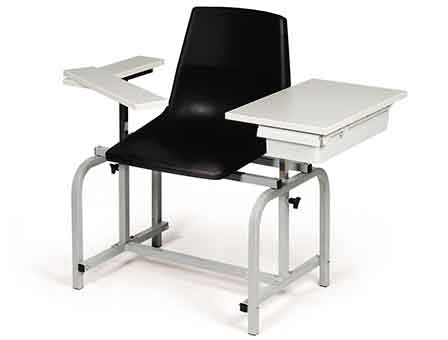 hausmann model 2196 blood chair with drawer - standard height