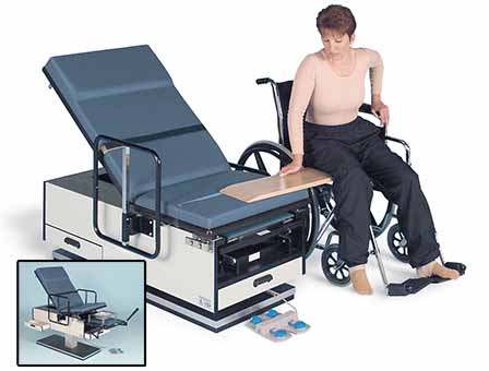 hausmann series 4460 powermatic® wheelchair accessible ada exam table