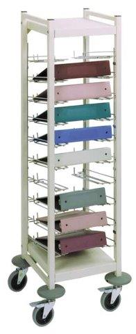 omnimed horizontal open chart racks
