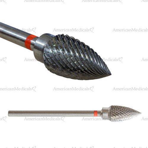 carbide small pointed cone podiatry bur fine from american medicals