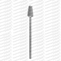 surgical grade stainless steel podiatry bur bud shaped, cross cut