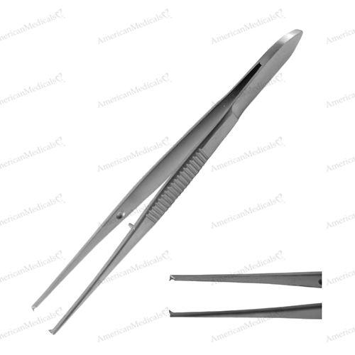 steristat sterile disposable iris tissue forceps straight with teeth from american medicals