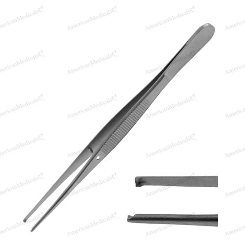 steristat sterile disposable tissue forceps with teeth stainless steel