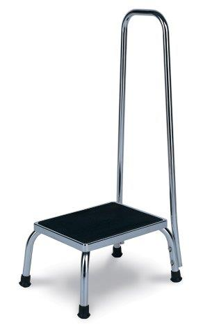 winco model 4230, 4235 chrome steel footstool with handle