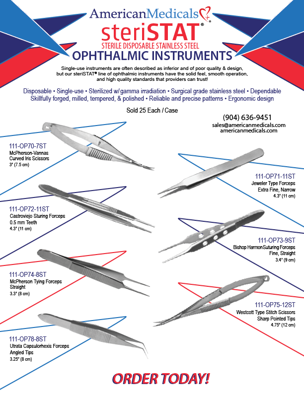 steristat ophthalmic instrument brochure